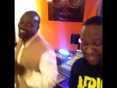 Akon In the Studio Recordin