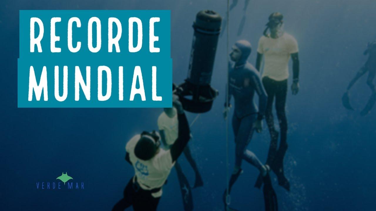 Recorde mundial de profundidade em mergulho livre
