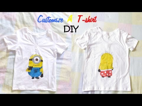Diy N 2 Customize A T Shirt With Fabric Markers Youtube
