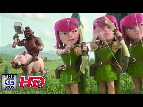 """CGI 3D Animated Trailer HD: """"Clash of Clans""""  by - Psyop Studios"""