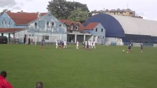 fk bsk batajnica vs fk mladi proleter 51 pp free kick milos vukomanovic