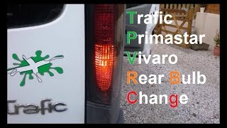 Trafic Vivaro Primastar Rear Light Cluster Removal