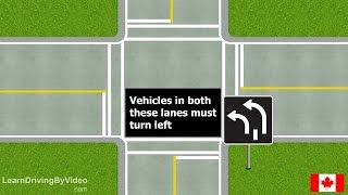 [learndrivingbyvideo.com] Lane Use Signs ALL in Canada
