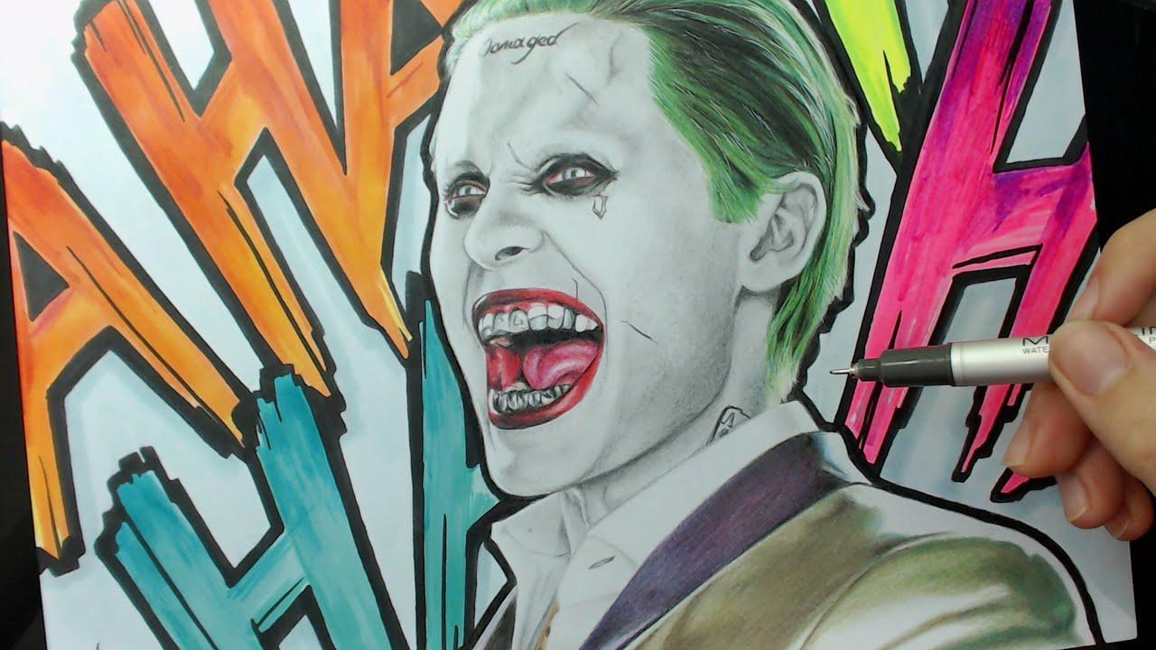 DRAWING CHALLENGE Joker Coringa Suicide Squad