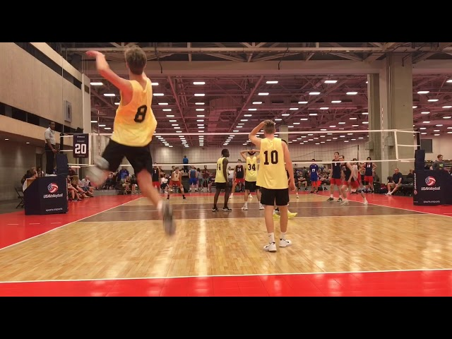 "Justin Wright, 6'4"" Middle Blocker, Class of 2020- 2019 Highlights"