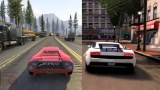 GTA V vs GTA IV Mods [amazing ENB Graphic Mod] Graphics comparison