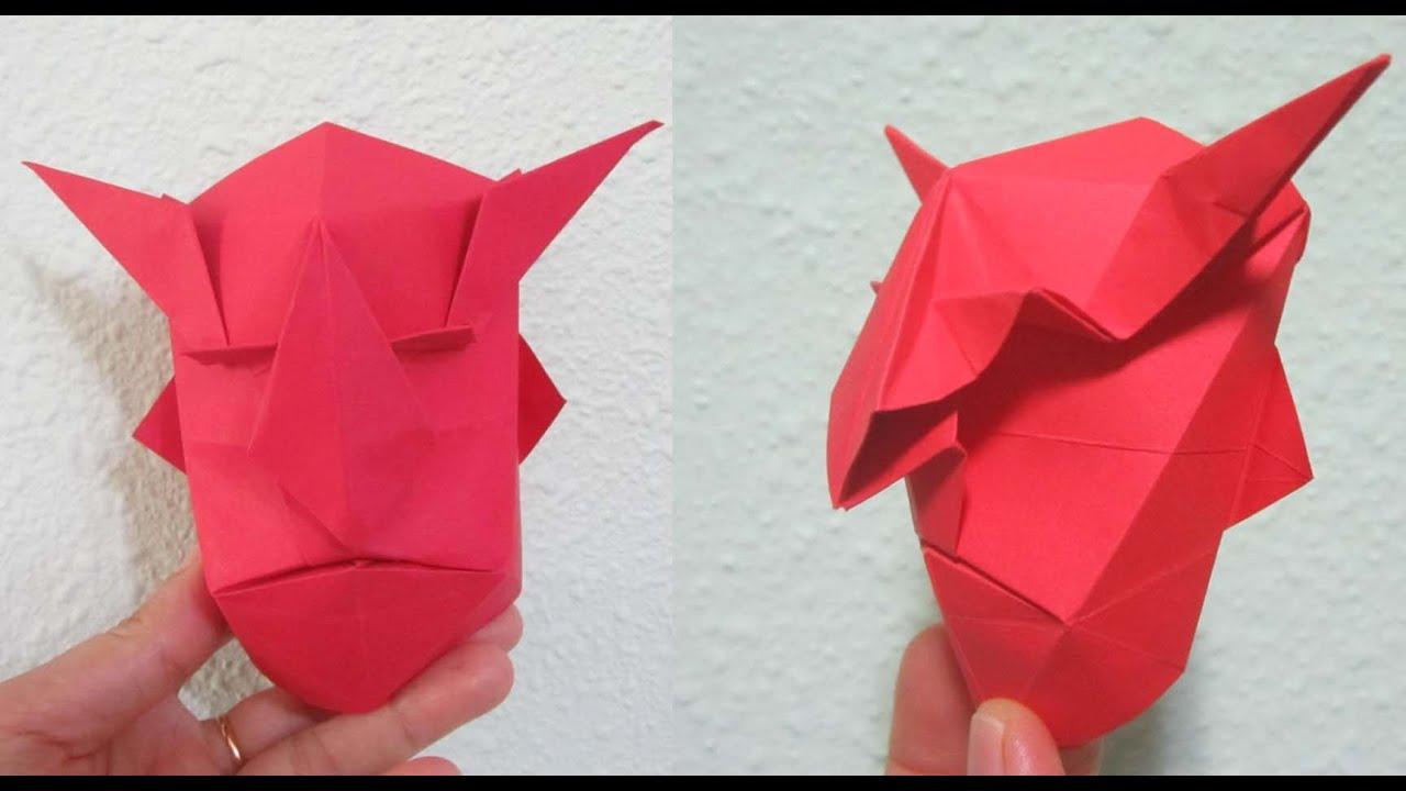 tutorial how to make origami devil mask creator jun