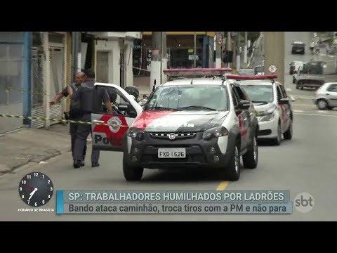 Após perseguição, polícia prende ladrões de carga em São Paulo | Primeiro Impacto (28/02/18)