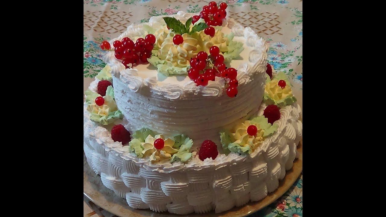 Как сделать трехъярусный торт своими руками