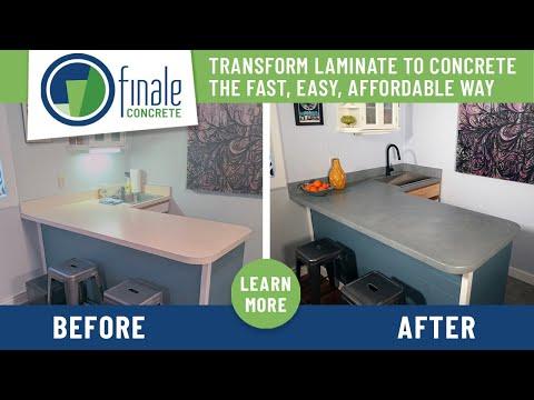 hqdefault - Transform laminate countertops to concrete using Finale DIY Concrete Countertop System - Concrete Floor Pros