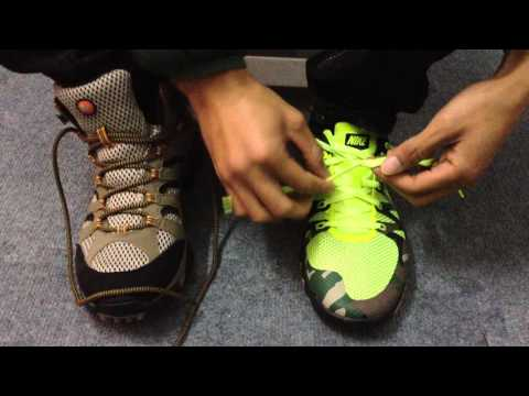 Cách buộc dây giày không bị tuột