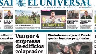 #EnPortada de EL UNIVERSAL Van por 4 empresas de edificios colapsados