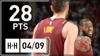 Kevin Love Full Highlights Cavs vs Knicks (2018.04.09) - 28 Points!