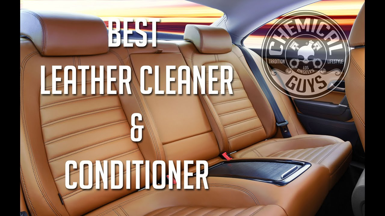 best leather cleaner conditioner chemical guys sprayable leather. Black Bedroom Furniture Sets. Home Design Ideas
