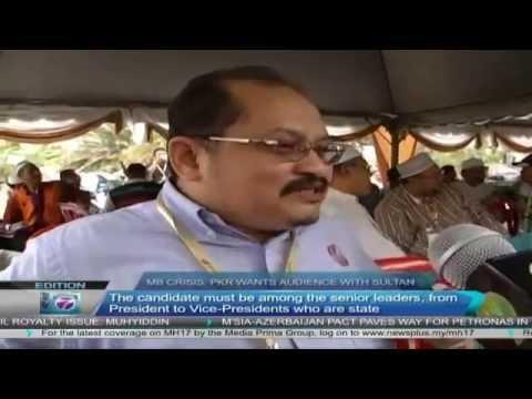 Krisis MB Selangor  PKR wants audience with Sultan