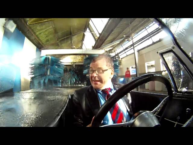 Campaigning in a car wash, not afraid to get wet