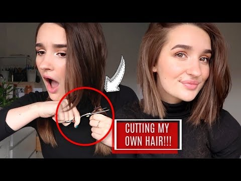 CUTTING MY OWN HAIR INTO A BOB | DO NOT TRY THIS AT HOME