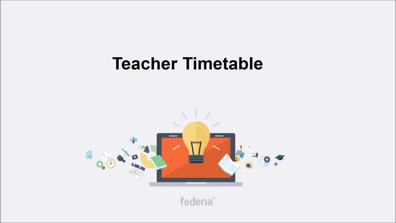 teacher timetable youtube
