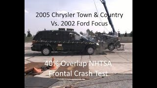 2005 Chrysler Town & Country Vs 2002 Ford Focus Nhtsa Moderate Overlap Crash Test