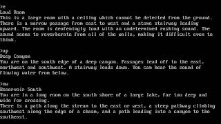 Zork I  - 05 Boat (platinum, emerald, pot of gold, sceptre, scarab, trident)