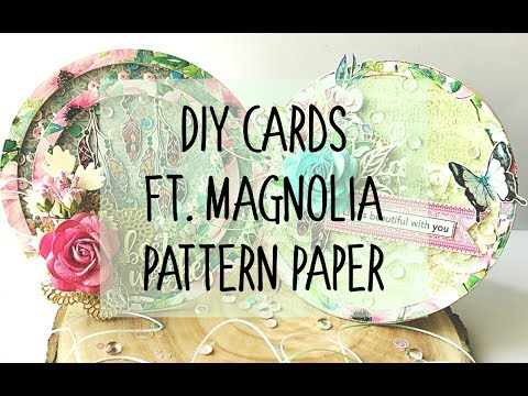 DIY Cards Ft  Magnolia Pattern Paper | Double Shaker Card | Mixed Media Card