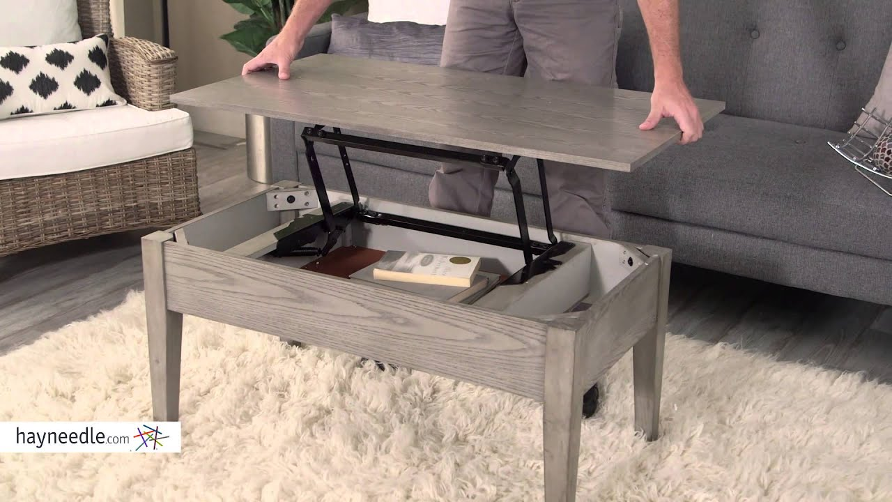 Turner Lift Top Coffee Table   Gray   Product Review Video