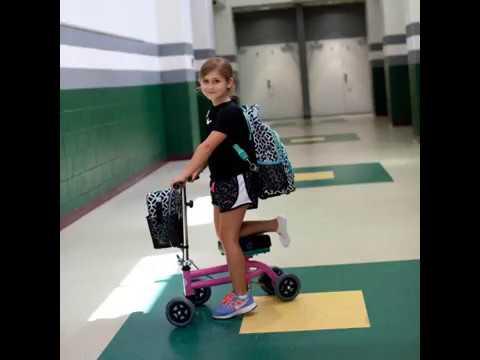 Knee Walker Jr Pediatric And Petite Knee Scooter Youtube