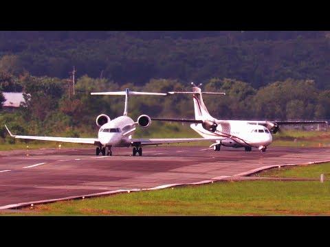 Pesawat Landing dan Take Off - Garuda Indonesia dan Xpress Air (Pesawat Terbang Indonesia)