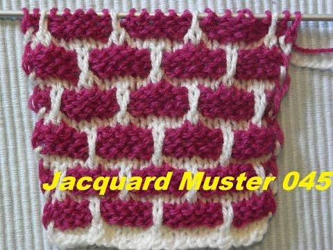 Jacquardmuster 045*Backsteinmauer muster Stricken *Muster für Pullover*Mütze* Kreativ