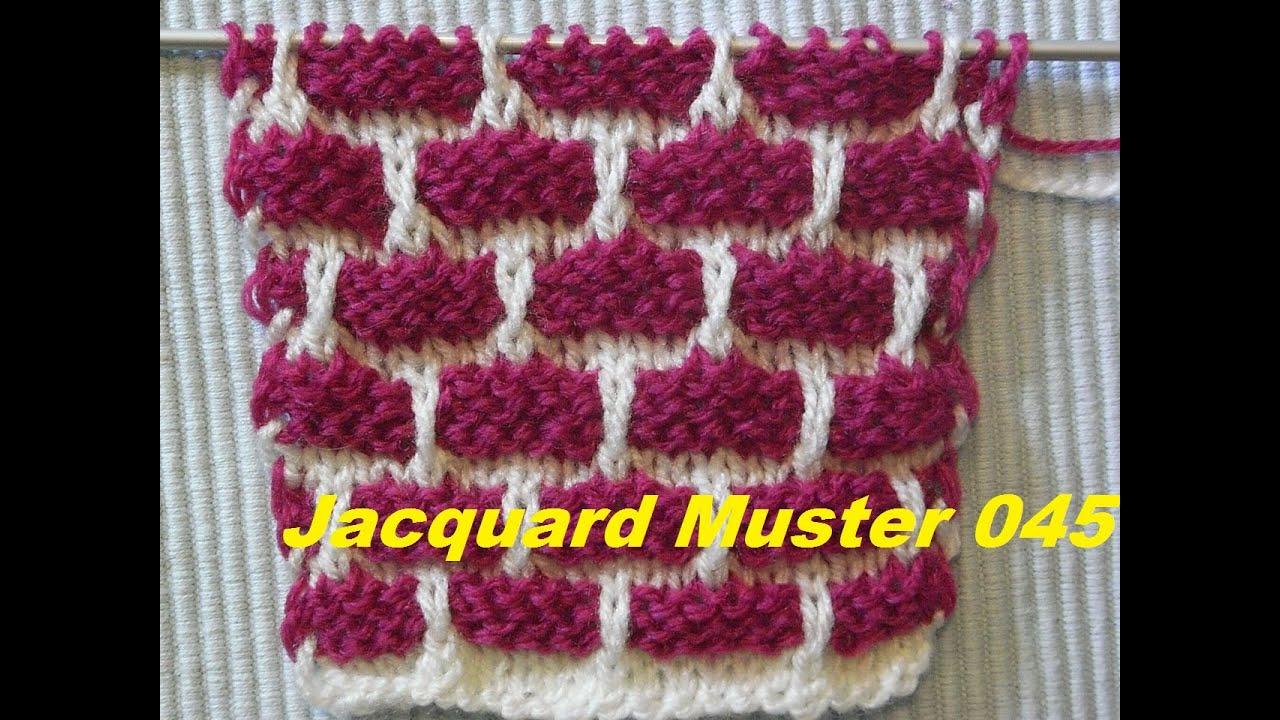 Jacquardmuster 045*Backsteinmauer muster Stricken *Muster für ...