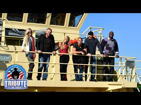 WWE Superstars and Divas tour the USS New York while visiting Naval Station Mayport
