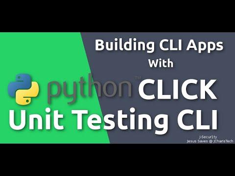 Unit Testing  CLICK Python CLI applications