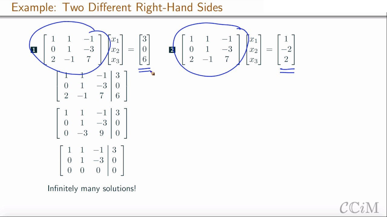 Matrix Equations With Zero Or Infinitely Many Solutions Curatedcourses