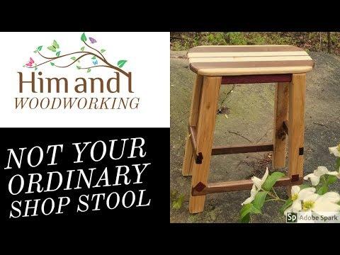 DIY bar stool plans #woodstool #stool #woodworking