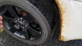 Removing tar / asphalt with WD40 simple