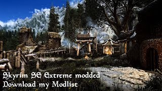 4K Skyrim SE: extreme modded ultra photorealistic graphic | MODLIST + Guide | Apex ENB |
