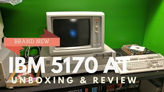 BRAND NEW IBM AT 5170 and Model M keyboard from 1988 unboxing and mini review