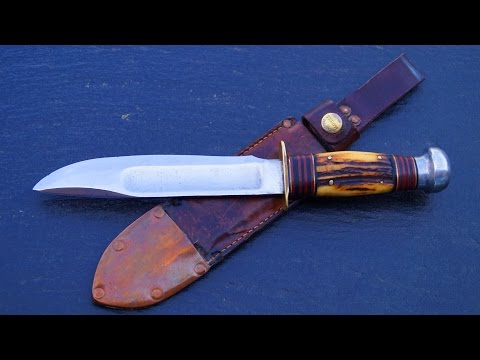 antique Marble's Ideal Knife hunting Bowie USA Gladstone