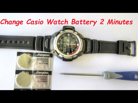 How To Change Casio Watch Batteries In Two Minutes!