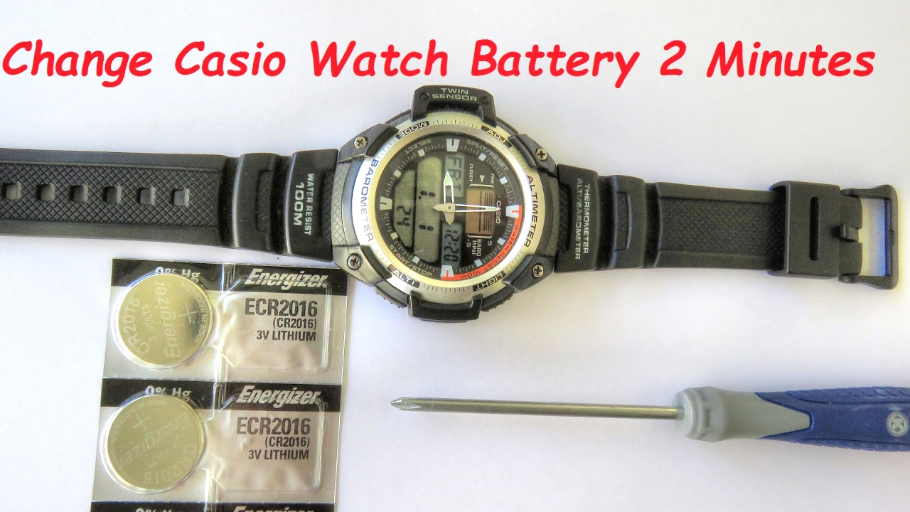 How to change casio watch batteries in two minutes youtube for Watches battery