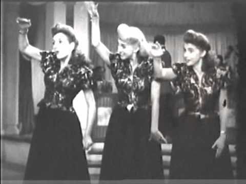 The Andrews Sisters Sing a Tropical Song