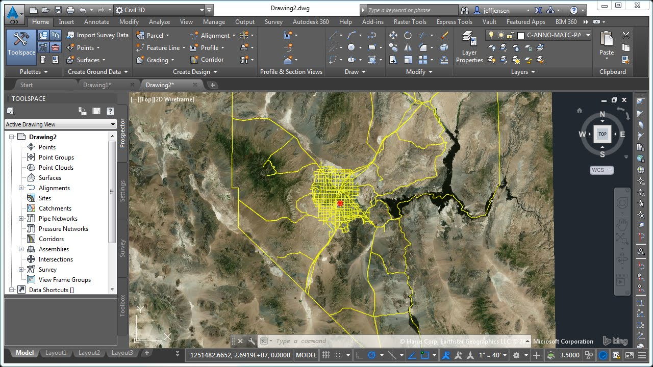 jensens civil 3d tutorial 03 using bing maps and gis data youtube