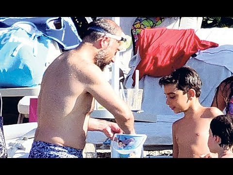 Halit & his family at Hilleside Beach Club - Fethiye.13/7/ 2017