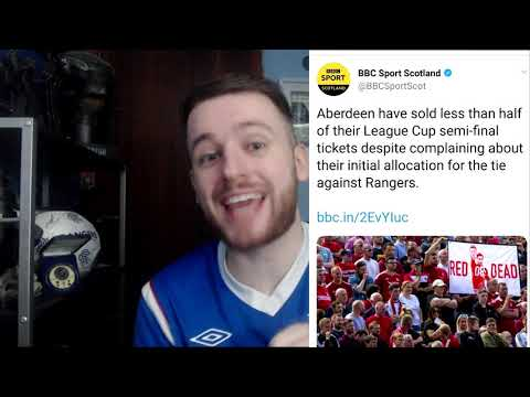 KYLE LAFFERTY SUSPENDED! & RANGERS SEMI FINAL TICKETS INCREASED AFTER ABERDEEN SALE STRUGGLES!