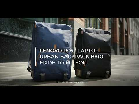 "Lenovo 15.6"" Laptop Urban Backpack B810 Lifestyle Video"
