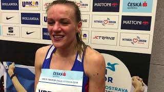 Simona Vrzalová na Czech Indoor Gala