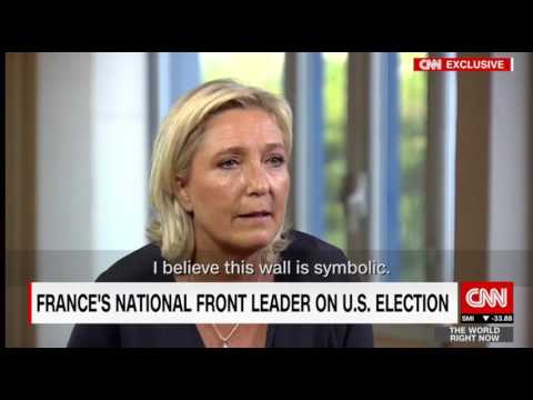 Thumbnail: Marine Le Pen with Hala Gorani on #BurkiniBan, Brexit, Trump and more.