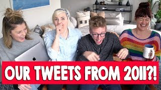 READING OUR TWEETS FROM 2011 (ft. Tyler Hannah & Mamrie) // Grace Helbig