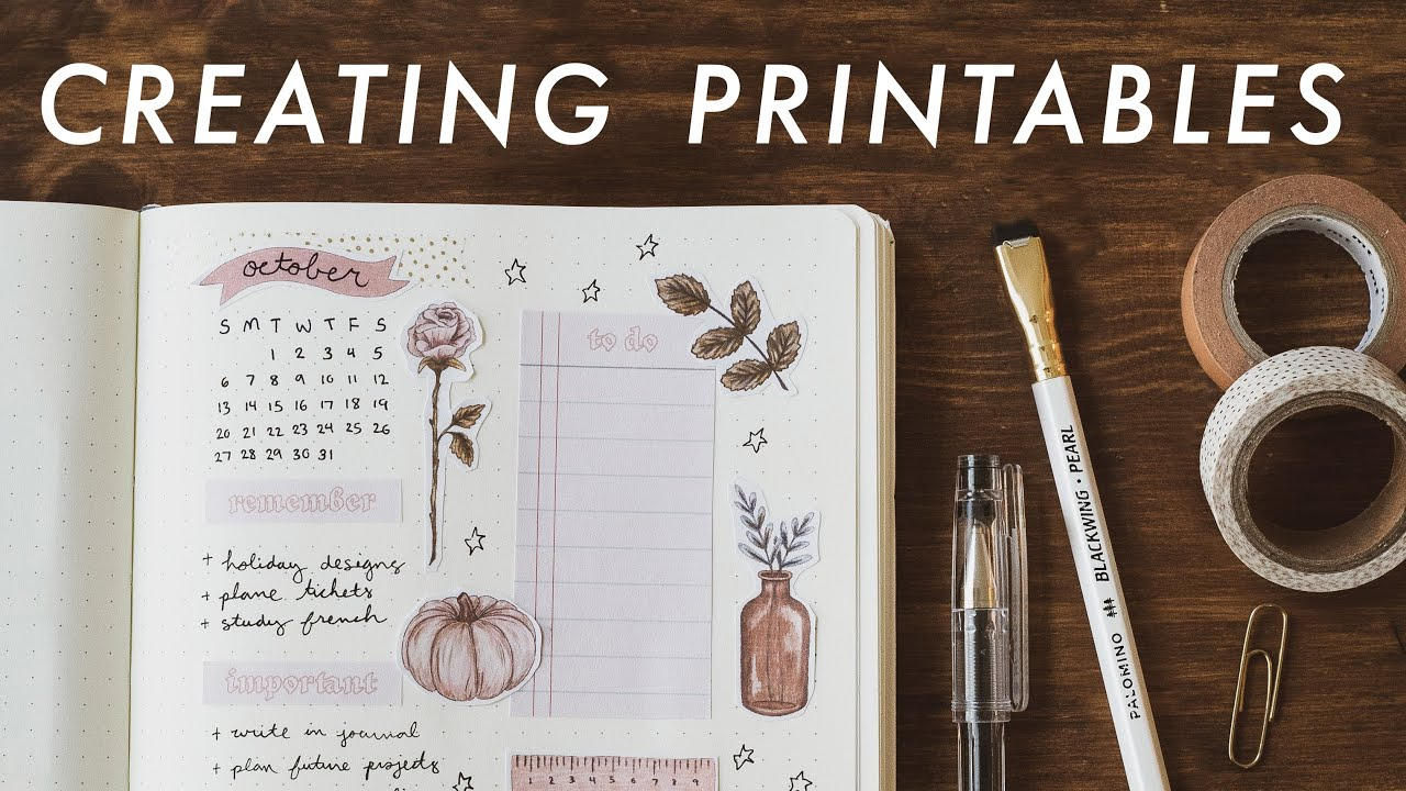 How To Design Create Printables Youtube