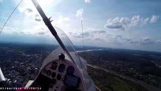 Lot szkoleniowy motolotnią – Toruń video